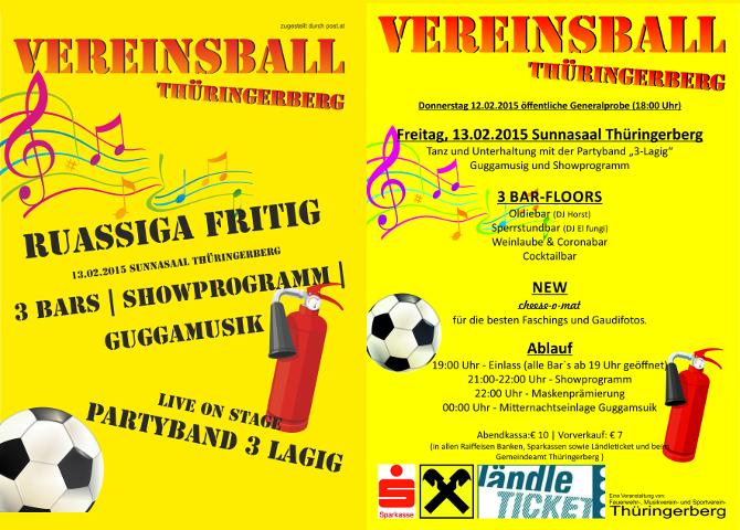Vereinsball 2015 - Info